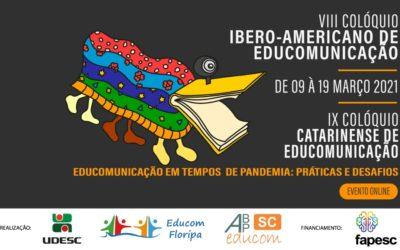 Inscritos nos Colóquios de Educomunicação vem de 04 países e dos 27 estados brasileiros